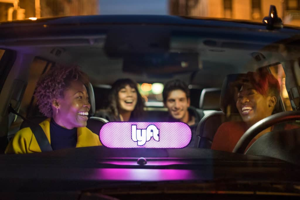 lyft amp in car passengers