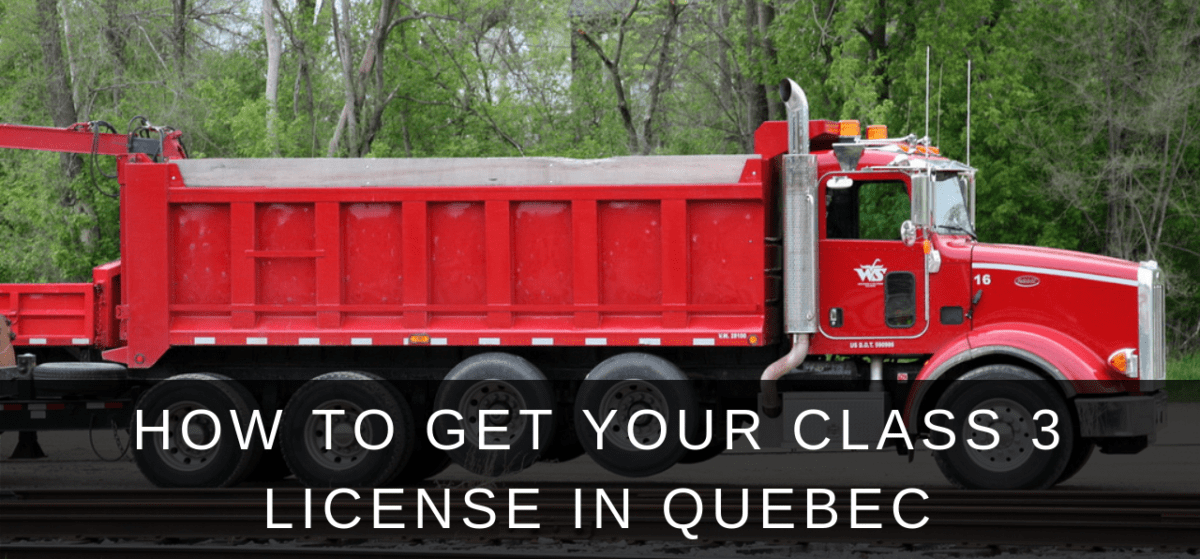 class 3 license in quebec