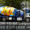 class 3 license bc mixer truck