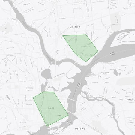 UberEats Gatineau Hot Spot Map
