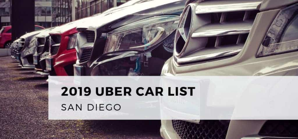 2019 Uber Car List San Diego