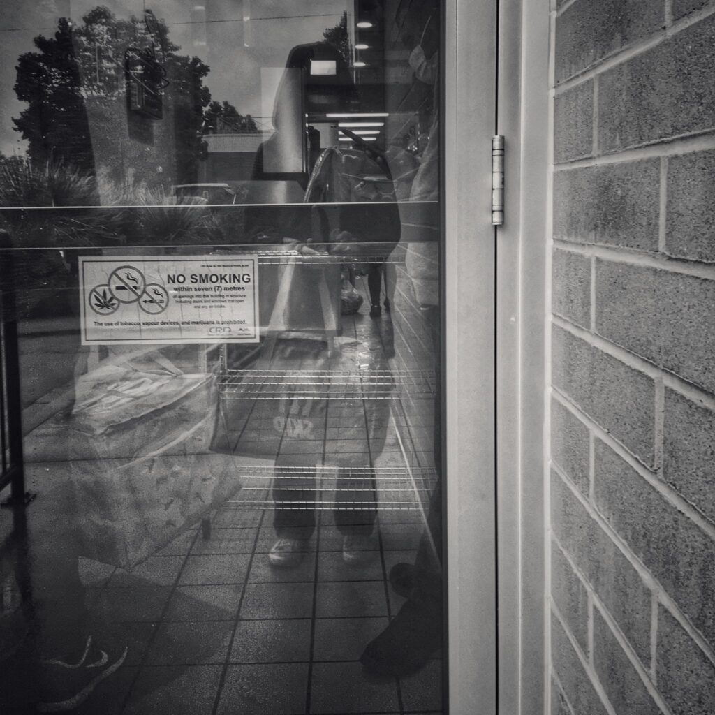 skip the dishes bag reflection door